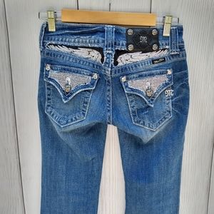 Miss me studded boot cut jeans